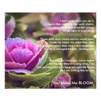 Usted hace que florece cojinete