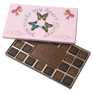 Usted hace que mi corazón agita los chocolates caja de bombones variados con 45 piezas