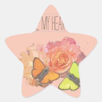 Usted hace que mi corazón agita pegatina en forma de estrella