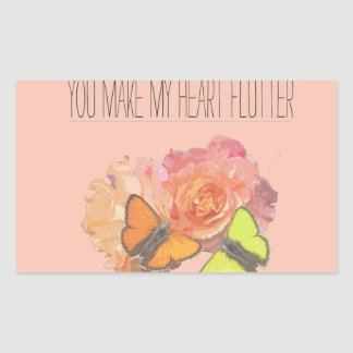 Usted hace que mi corazón agita pegatina rectangular