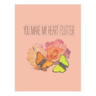 Usted hace que mi corazón agita postales