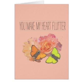 Usted hace que mi corazón agita tarjeta de felicitación