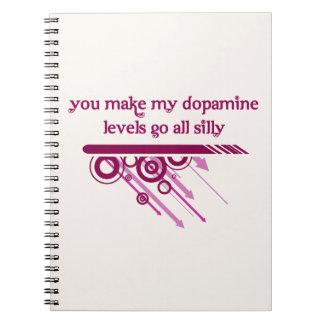 Usted hace que mis niveles de la dopamina van todo libretas espirales