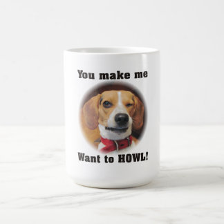 Usted hace que quiere gritar la taza del perro del