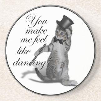 ¡Usted hace que siente como el baile! Gato del bai Posavasos Para Bebidas