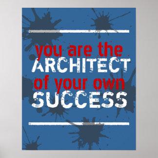 Usted hace su propio poster del éxito