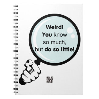 Usted hace tan poco cuaderno