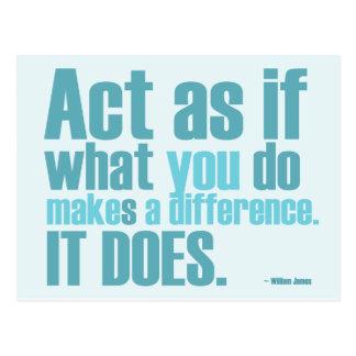 Usted hace una diferencia la postal de motivación