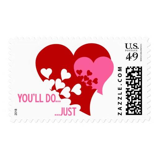 Usted hará a la tarjeta del día de San Valentín Franqueo