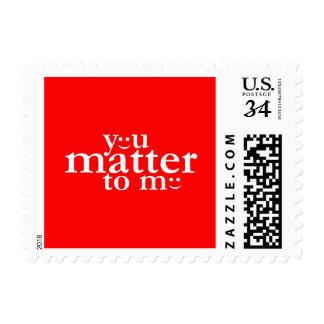 Usted importa a mí sello de la postal del día