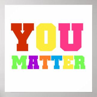 Usted importa los colores 2 del arco iris póster