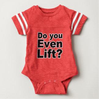 ¿Usted incluso levanta? Camiseta del mono del bebé Camisas