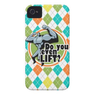 ¿Usted incluso levanta?  Modelo colorido de Argyle iPhone 4 Case-Mate Cárcasa