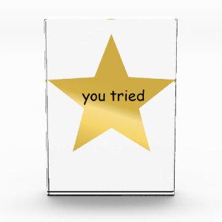 usted intentó el premio