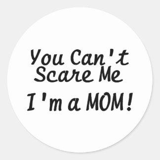 Usted linado me asusta Im una mamá Etiqueta