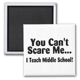 Usted linado me asusta que enseño a la escuela sec imán cuadrado