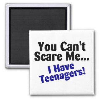 Usted linado me asusta que tengo adolescentes imán cuadrado