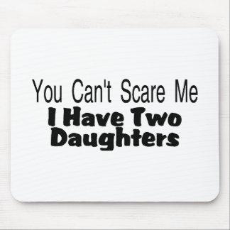 Usted linado me asusta que tengo dos hijas (2) tapete de raton