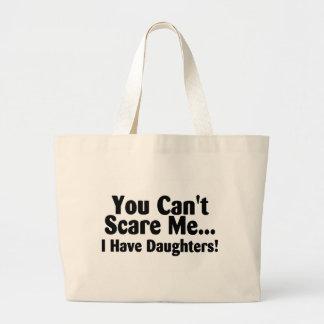 Usted linado me asusta que tengo hijas bolsa tela grande