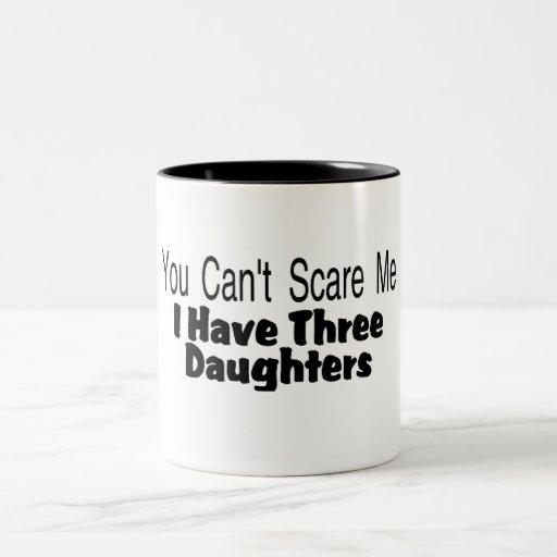 Usted linado me asusta que tengo tres hijas (2) taza dos tonos