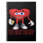 Usted lleva a cabo la llave cuadernos