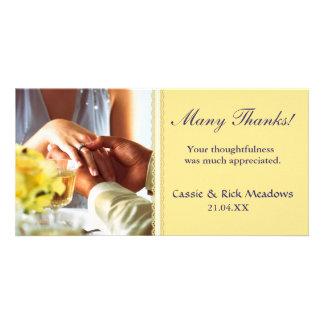 Usted lleva mi anillo tarjetas fotográficas personalizadas