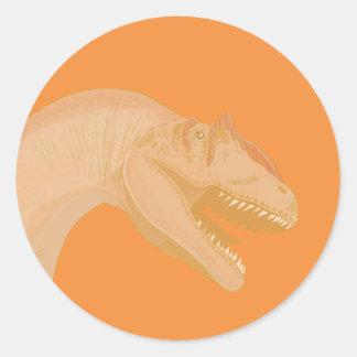 ¡Usted lo hizo! Dinosaurio Etiquetas Redondas