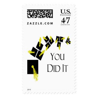 Usted lo hizo sello postal