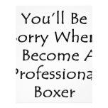 Usted lo sentirá cuando hago boxeador profesional tarjetas publicitarias
