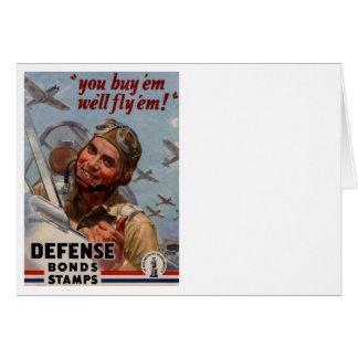 """Usted los compra y los volaremos """" tarjeta de felicitación"""