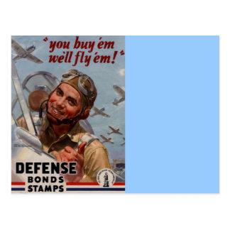 """Usted los compra y los volaremos """" tarjeta postal"""