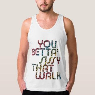 Usted mariquita de Betta que camina las camisetas Playera De Tirantes American Apparel De Jersey Fin