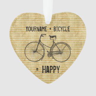 Usted más la bicicleta iguala amarillo antiguo fel