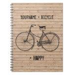 Usted más la bicicleta iguala beige de madera anti libretas espirales