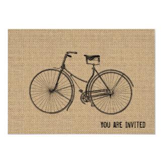 """Usted más la bicicleta iguala el saco natural invitación 5"""" x 7"""""""