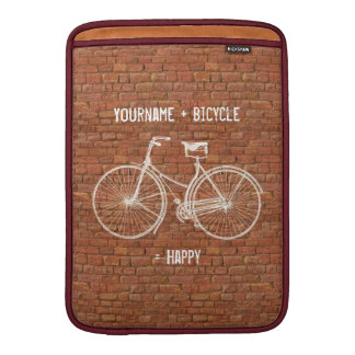 Usted más la bicicleta iguala ladrillos rojos anti fundas para macbook air