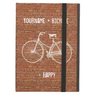 Usted más la bicicleta iguala ladrillos rojos anti