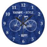 Usted más la bicicleta iguala las rayas antiguas f relojes
