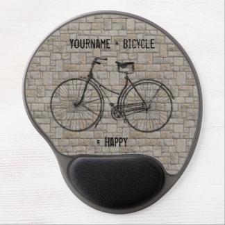 Usted más la bicicleta iguala los ladrillos antigu alfombrilla de raton con gel