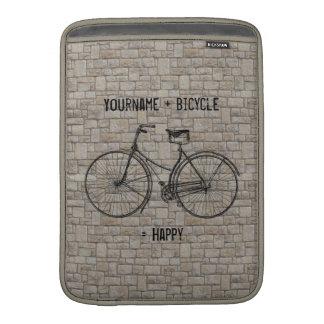Usted más la bicicleta iguala los ladrillos antigu fundas macbook air