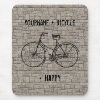 Usted más la bicicleta iguala los ladrillos antigu tapetes de ratones