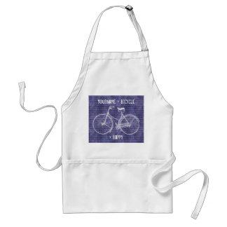 Usted más la bicicleta iguala púrpura antigua feli delantal
