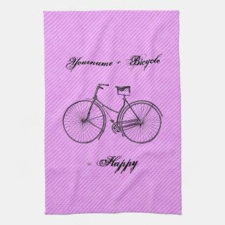 Usted más rosa antiguo feliz de la lavanda del igu toallas
