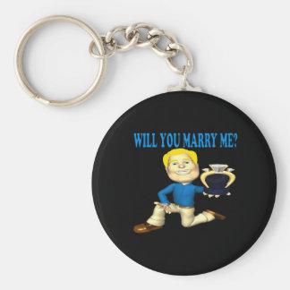 Usted me casará 6 llavero