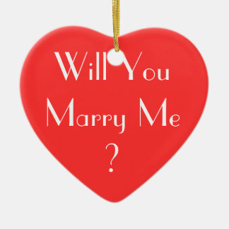 ¿Usted me casará? Adorno Navideño De Cerámica En Forma De Corazón