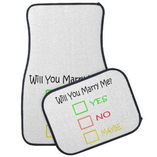 ¿Usted me casará? Alfombrilla De Coche