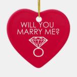 ¿Usted me casará? Anillo de diamante de la oferta Ornamento De Navidad
