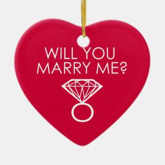 ¿Usted me casará Anillo de diamante de la oferta Ornamento De Navidad