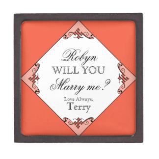 ¿Usted me casará? Caja de encargo del anillo para  Cajas De Regalo De Calidad