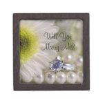 Usted me casará caja del anillo de compromiso de l caja de joyas de calidad